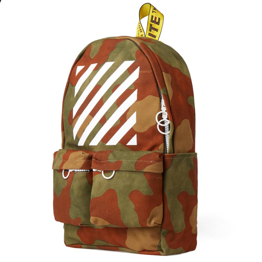 Off-White Diagonal Camo Backpack (Camo)