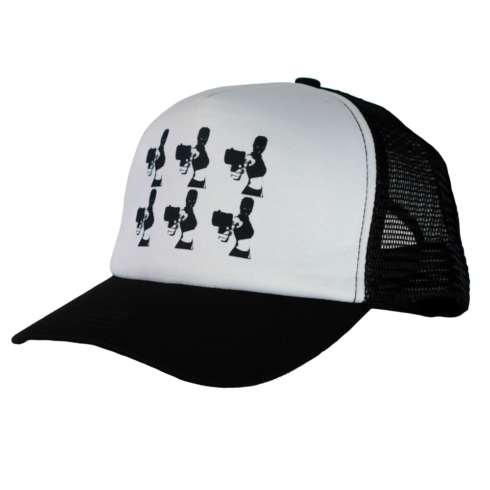 Distinct Armed and Dangerous Trucker Hat (Black)