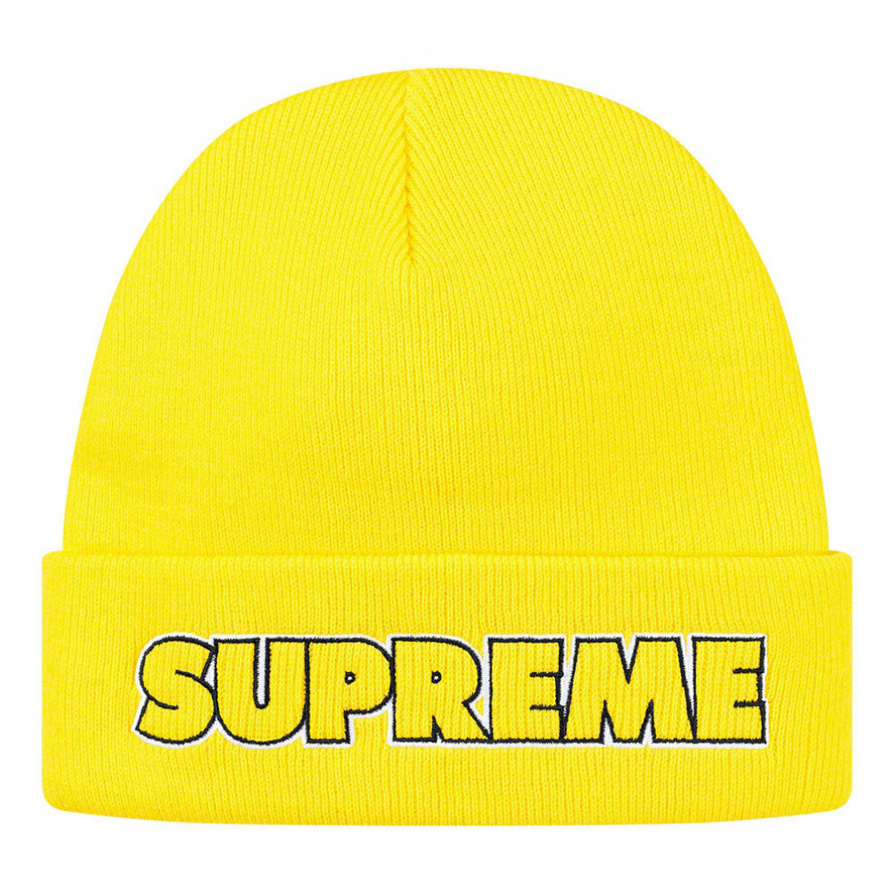 Supreme Outline Beanie (Yellow)