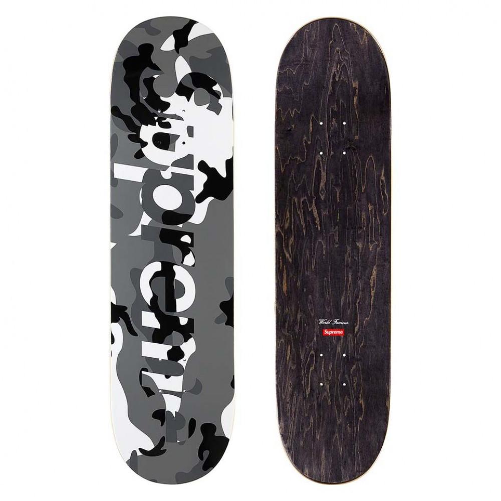 Supreme Camo Logo Skateboard Deck (Snow)