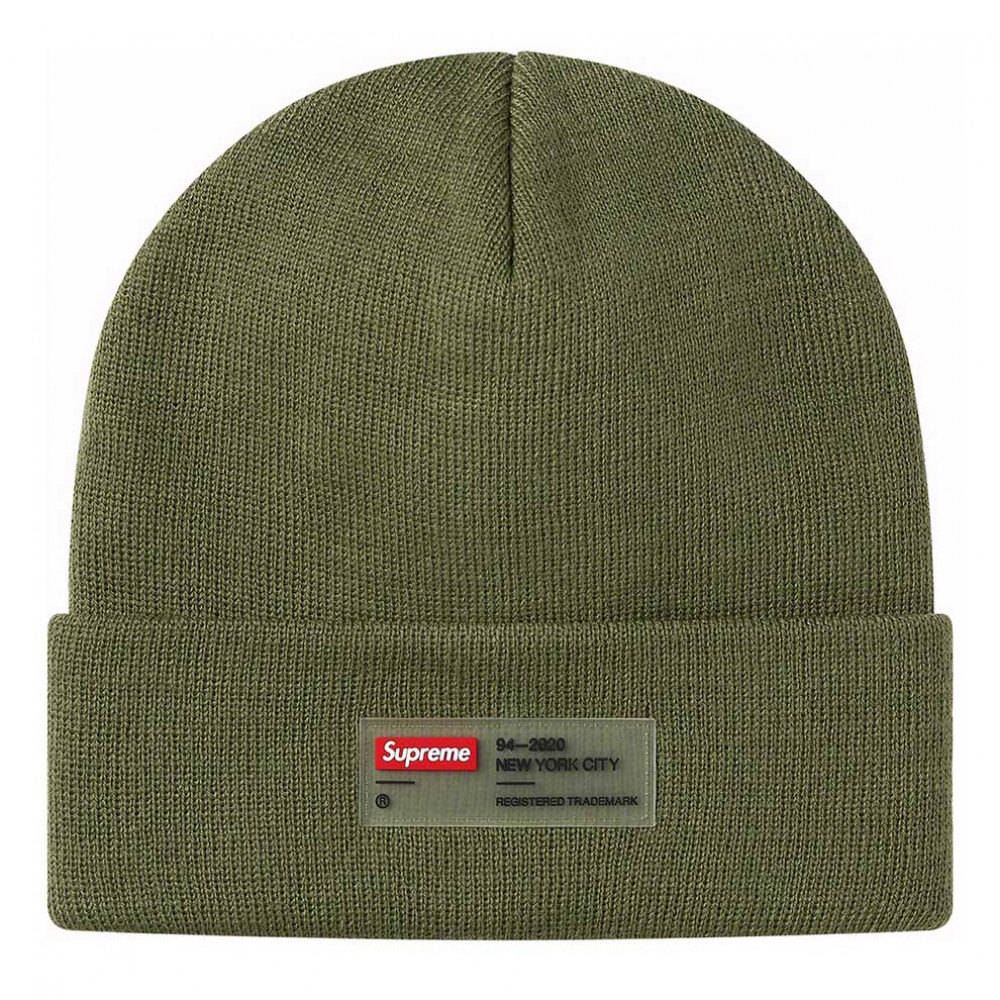 Supreme Clear Label Beanie (Olive)