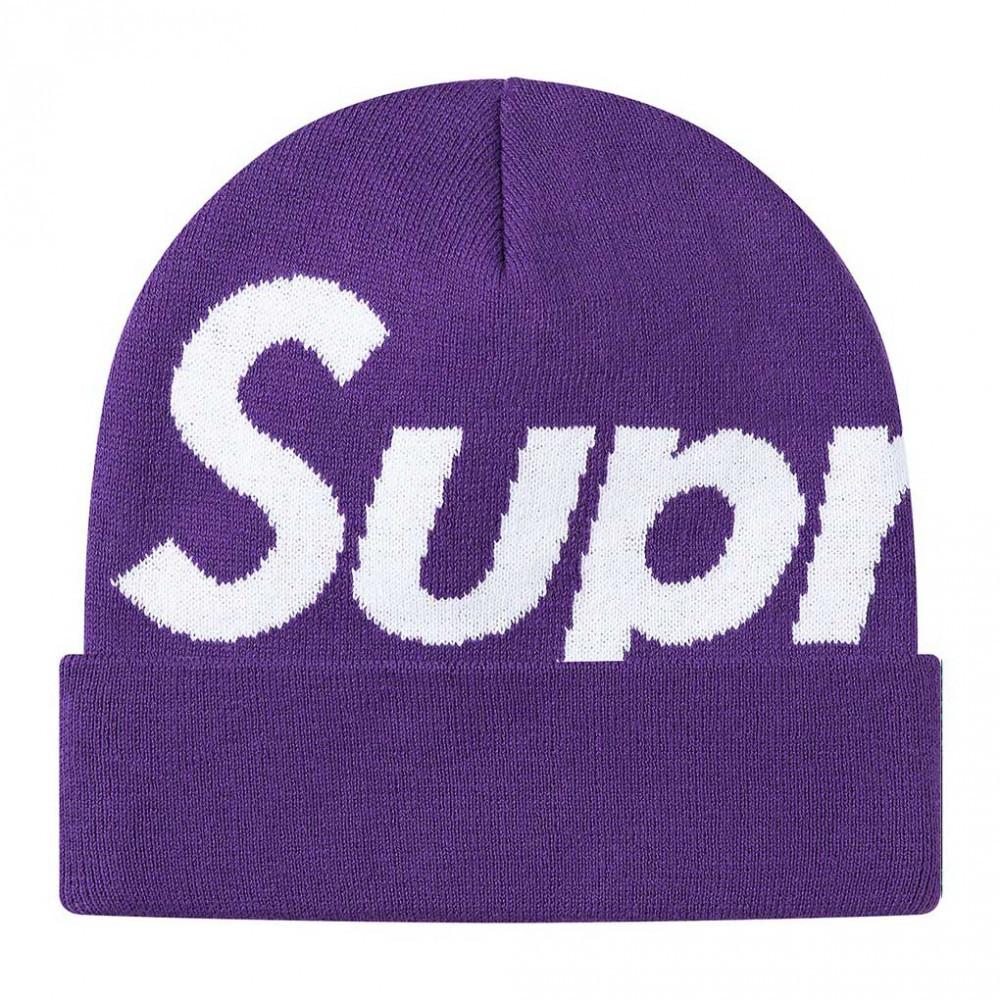 Supreme Big Logo Beanie (Purple)