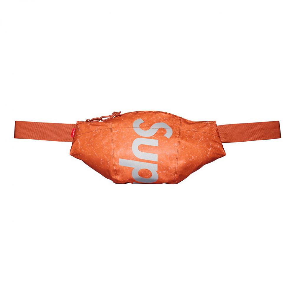 Supreme Waterproof Reflective Speckled Waist Bag (Orange)
