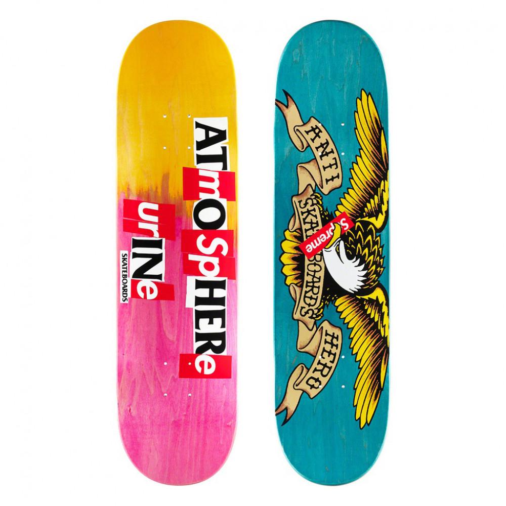Supreme x ANTIHERO Skate Deck (Multi/Pink)
