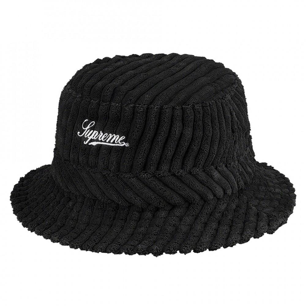Supreme Terry Corduroy Crusher Hat (Black)