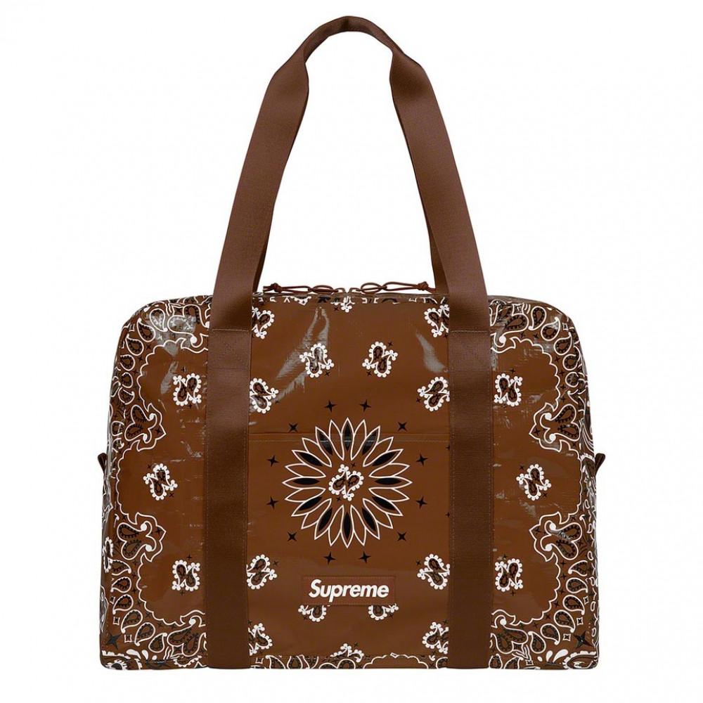 Supreme Bandana Tarp Small Duffle Bag (Brown)