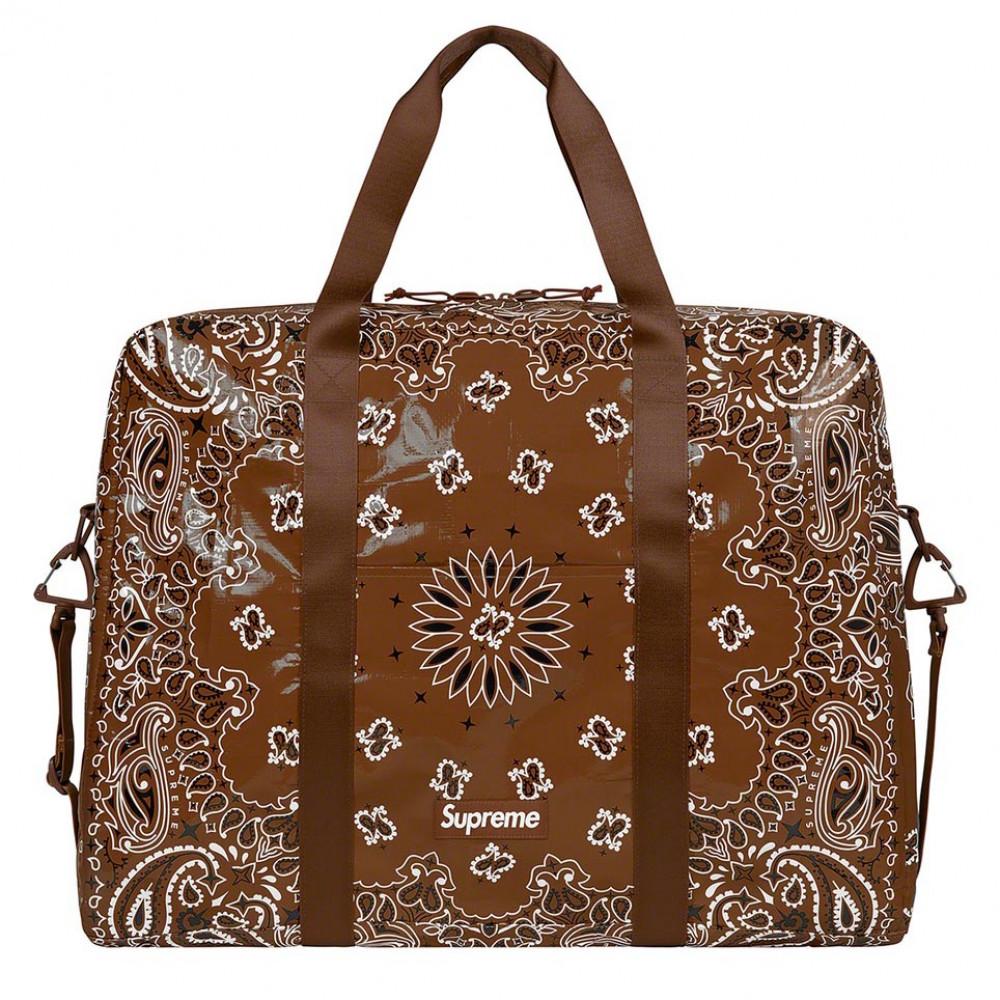 Supreme Bandana Tarp Large Duffle Bag (Brown)