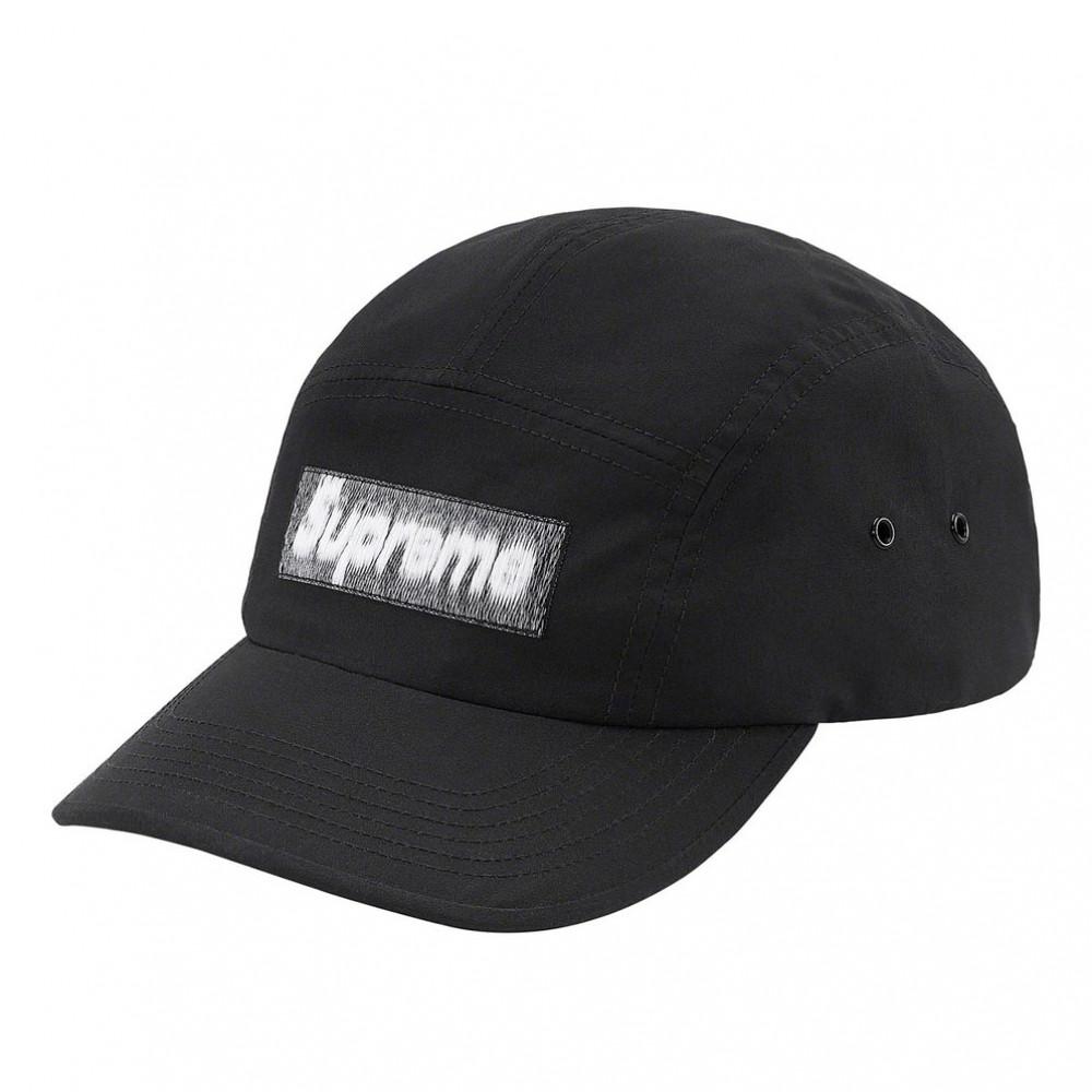 Supreme Reversed Label Camp Cap (Black)