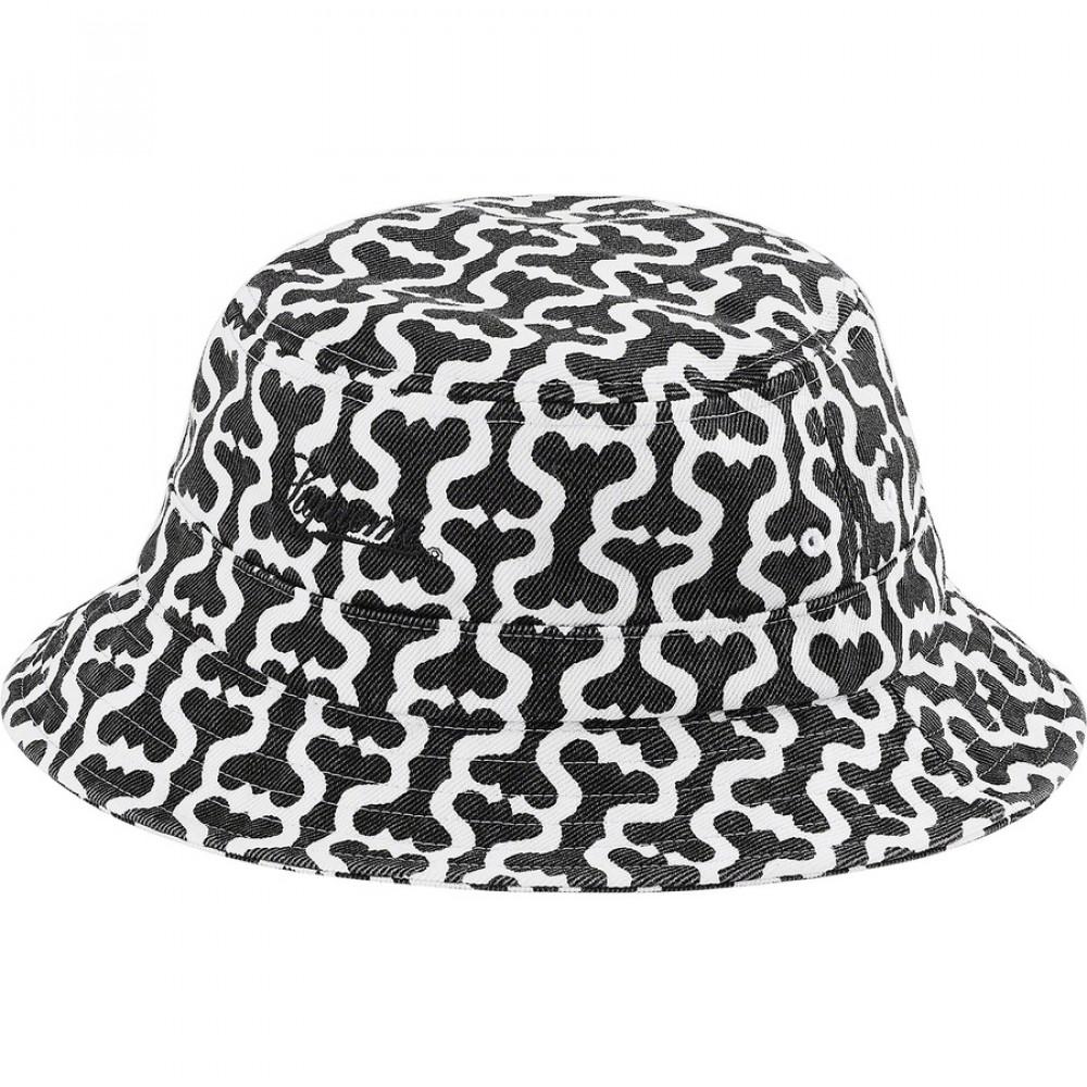 Supreme Monogram S Logo Twill Crusher Hat (Black)