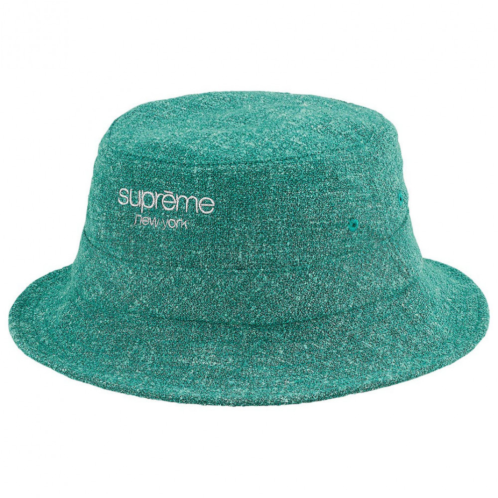 Supreme Classic Logo Terry Bucket Hat (Teal)
