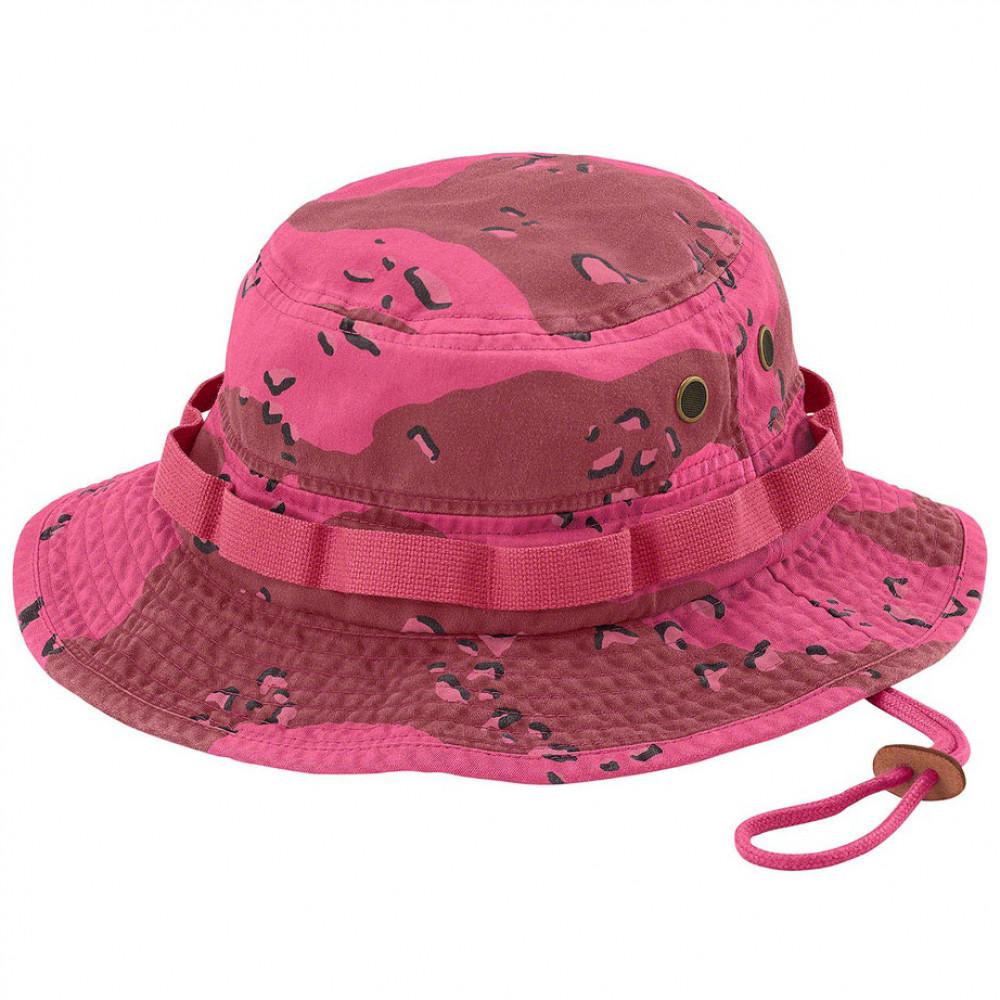 Supreme Overdyed Camo Bucket Hat (Pink)