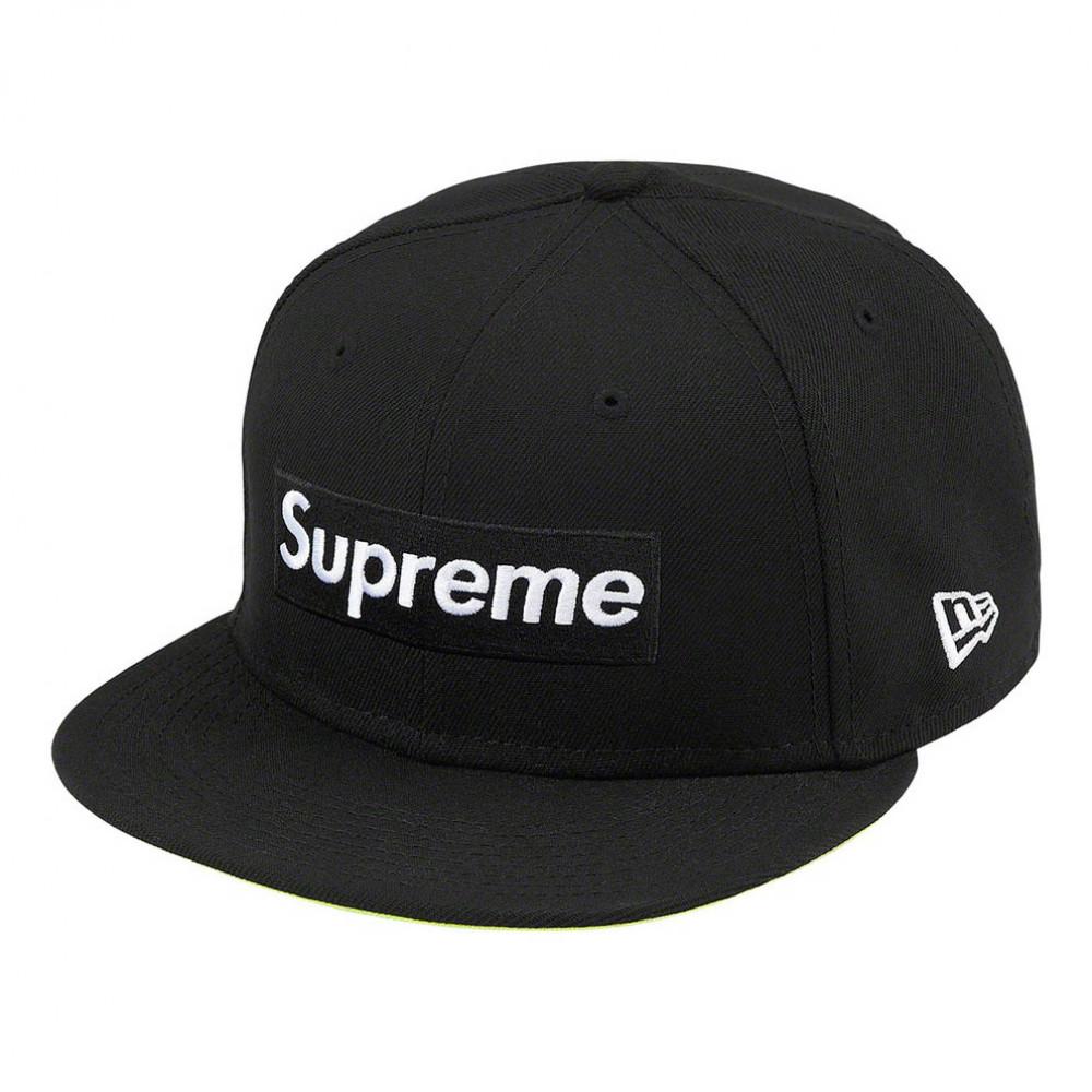 Supreme x New Era No Comp Box Logo Cap (Black)
