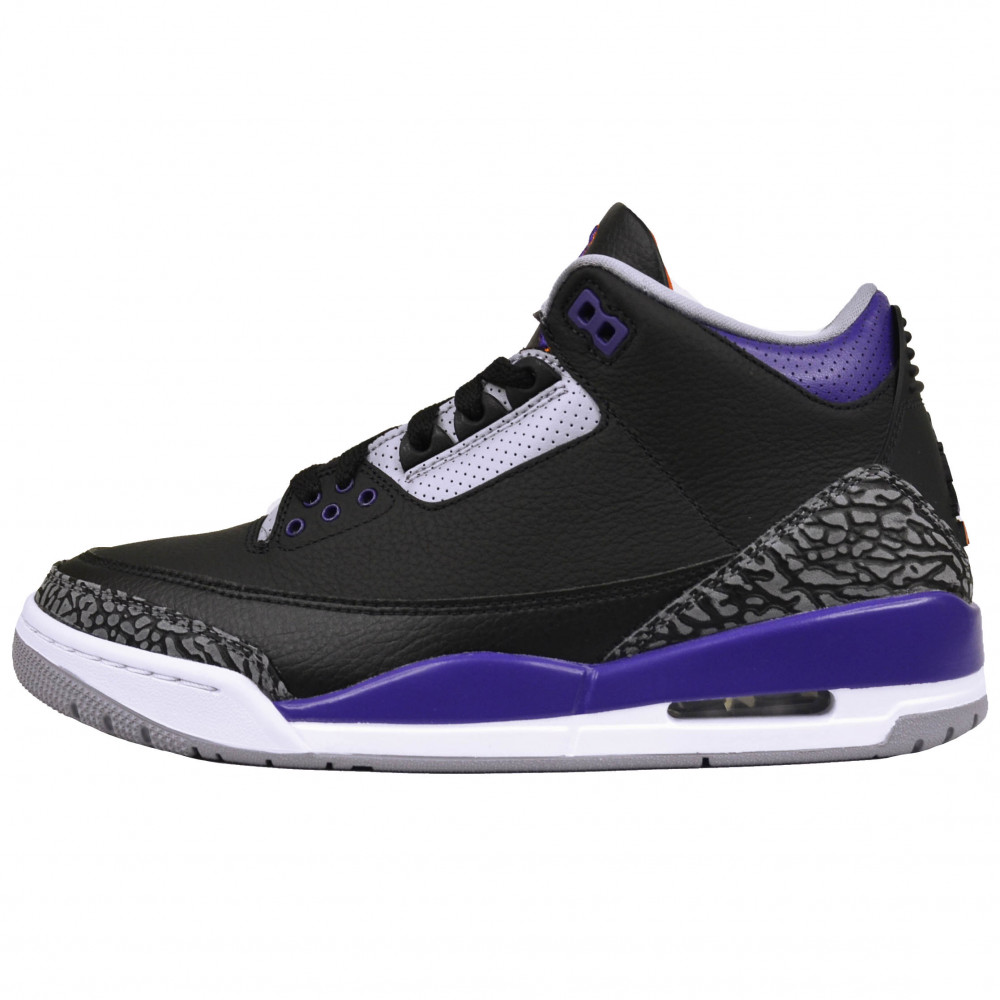 Nike Air Jordan 3 (Black/Court Purple)