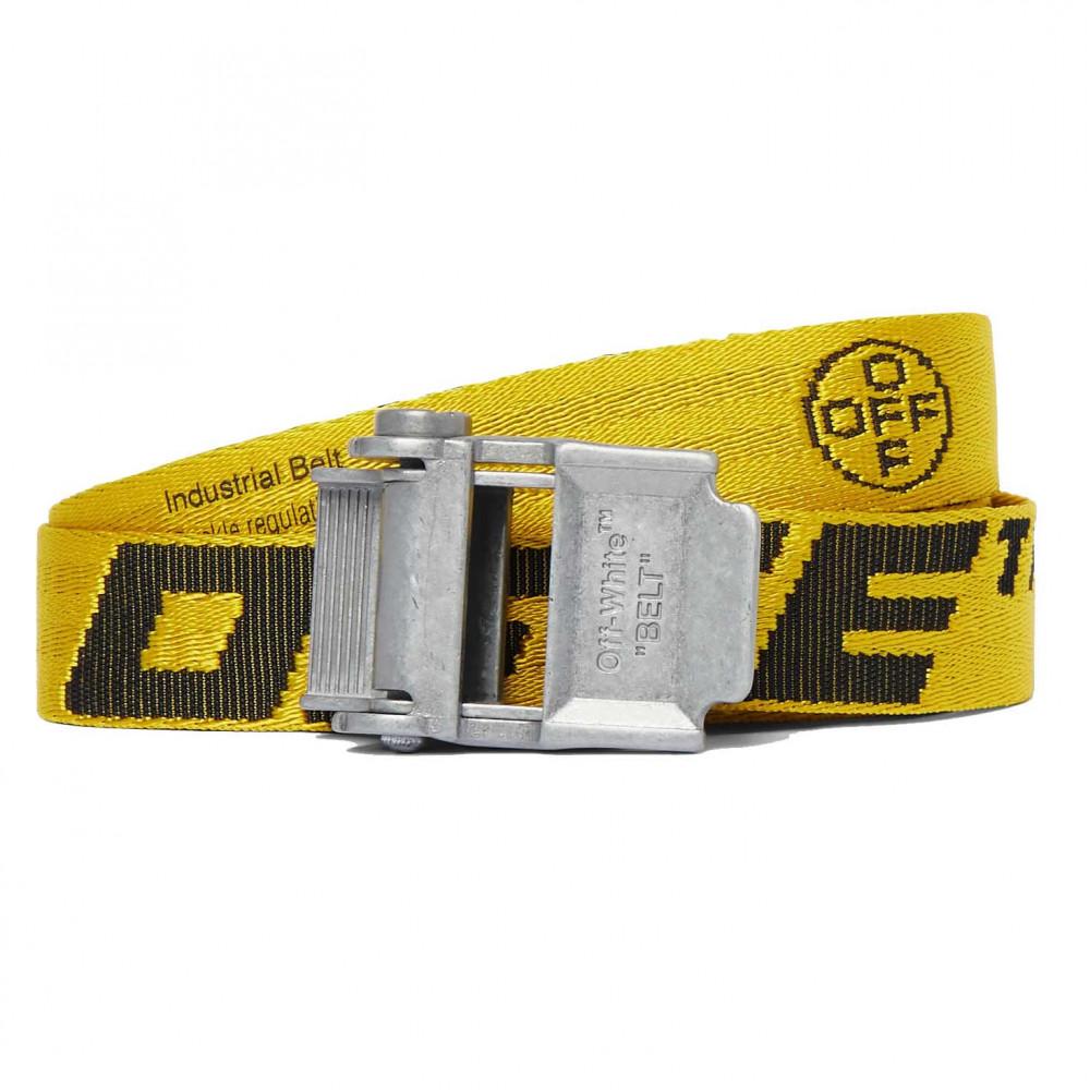 Off-White 2.0 Industrial Logo-Jacquard Webbing Belt (Yellow)