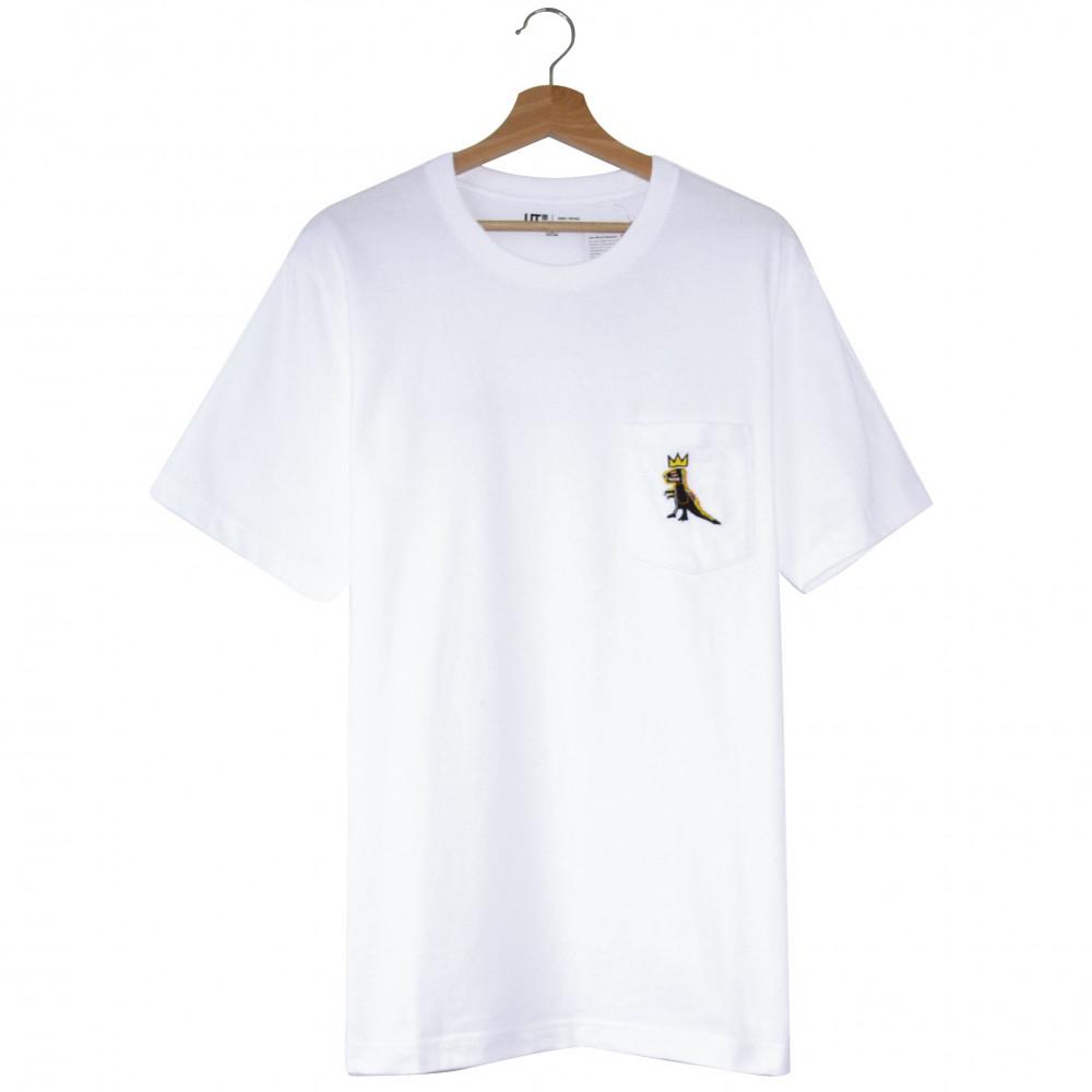 Jean-Michel Basquiat x Uniqlo Dinosaur Pocket Tee (White)