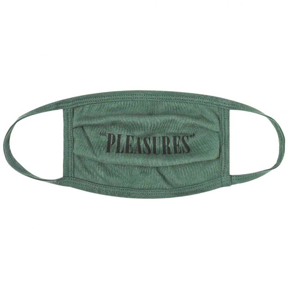 Pleasures Core Logo Face Mask (Green)