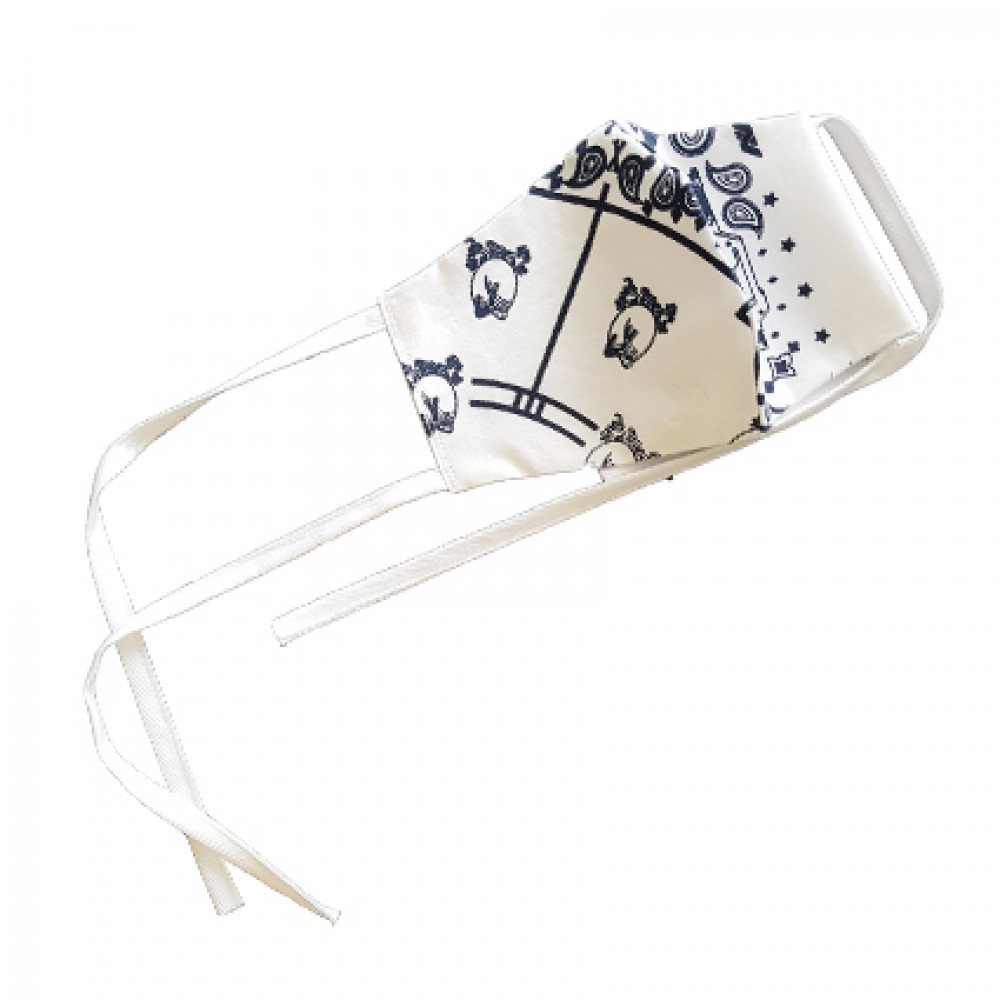 Flace x Freier Bandana Face Mask (White)