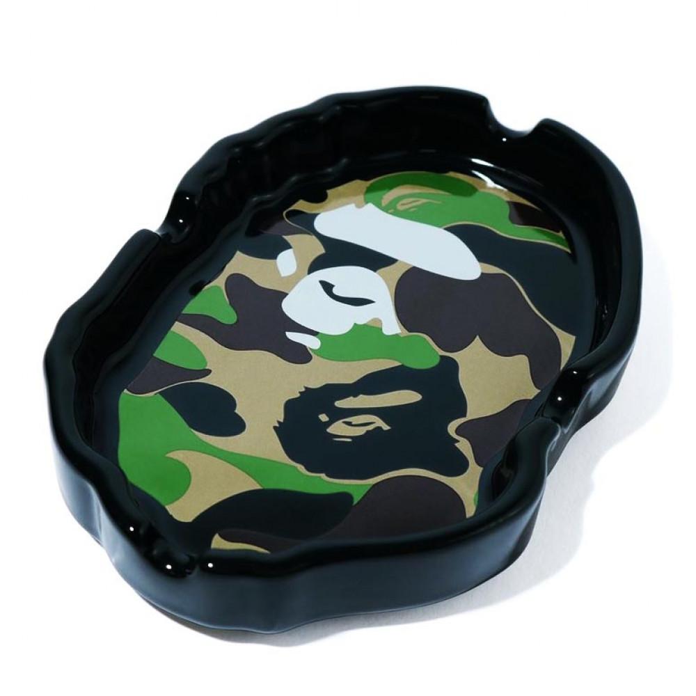 BAPE Abc Camo Ape Head Ashtray (Black)