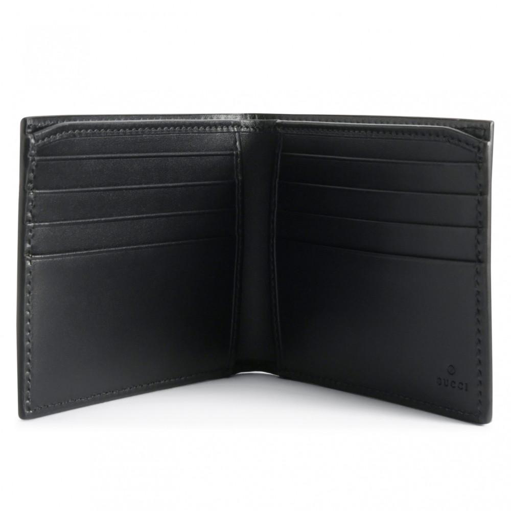 Gucci Bifold GG Supreme Kingsnake Wallet (Beige)