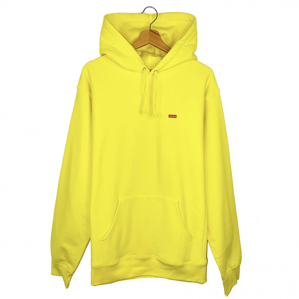 Supreme Small Box Logo Hoodie (Lemon)