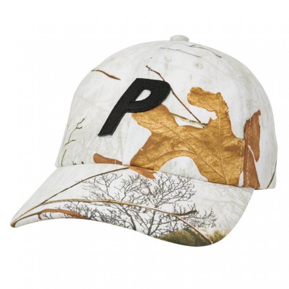 Palace P 6-Panel Cap (Snow)