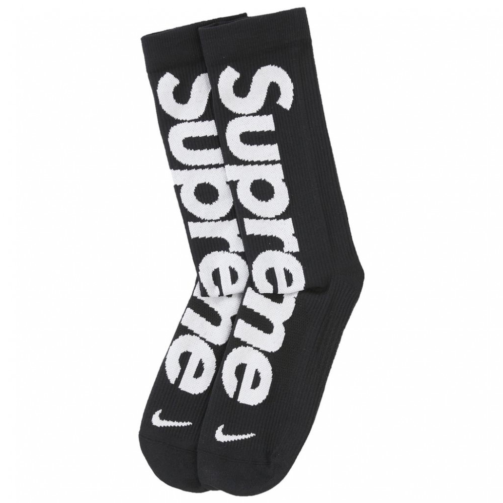 Supreme x Nike Lightweight Crew Socks (Black)