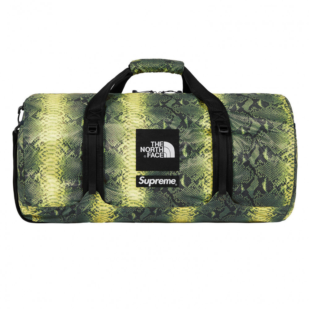 Supreme x TNF Snakeskin Flyweight Duffle Bag (Green)