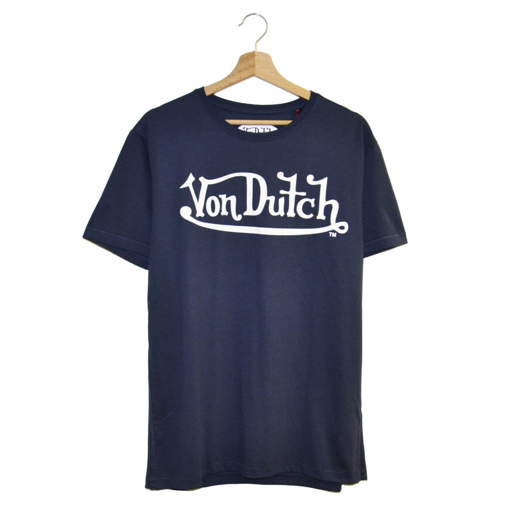 Von Dutch Alpha Logo Tee (Navy/White)