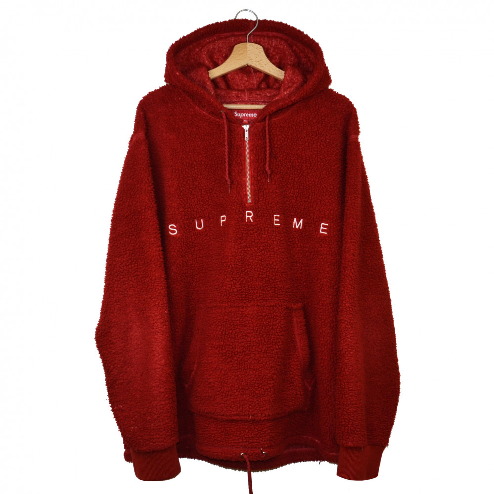 Supreme Sherpa Fleece Pullover (Red)