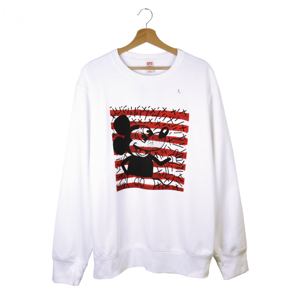 Keith Haring x Uniqlo Mickey Mouse Crewneck (White)