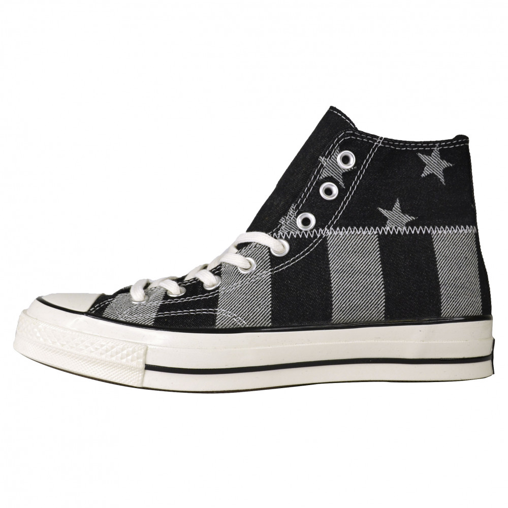 Converse Stars and Stripes Chuck 70 Hi (Black/Grey)