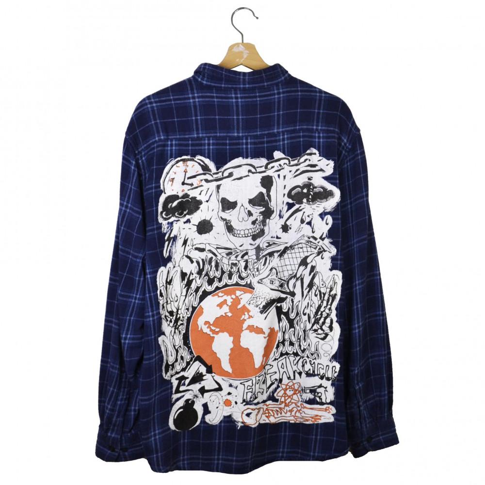 Freak Cycled Flannel Shirt (Blue)