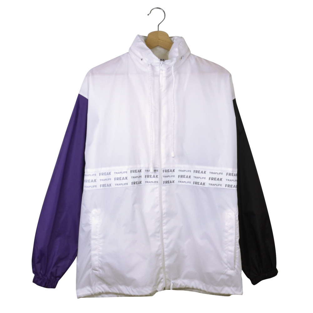 Freak x Traplife Windbreaker (White/Purple)