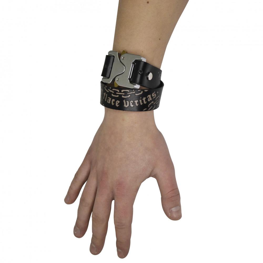 Flace Veritas Leather Bracelet (Black)