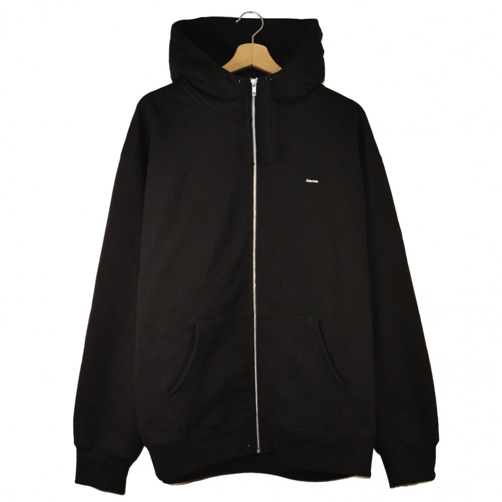 Supreme Small Box Logo Facemask Zip Up Hoodie (Black)