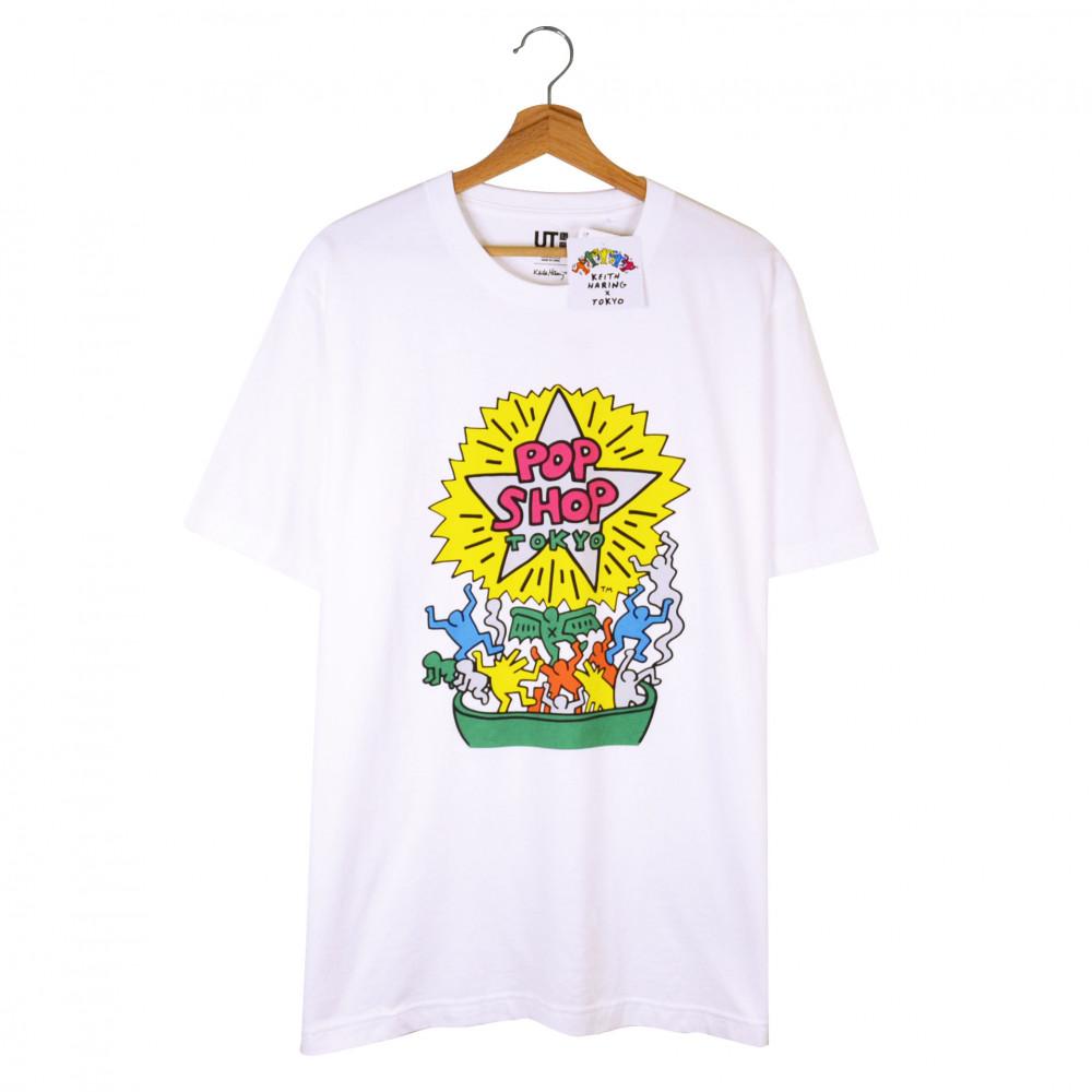 Keith Haring x Uniqlo Tokyo Pop Shop Tee (White)