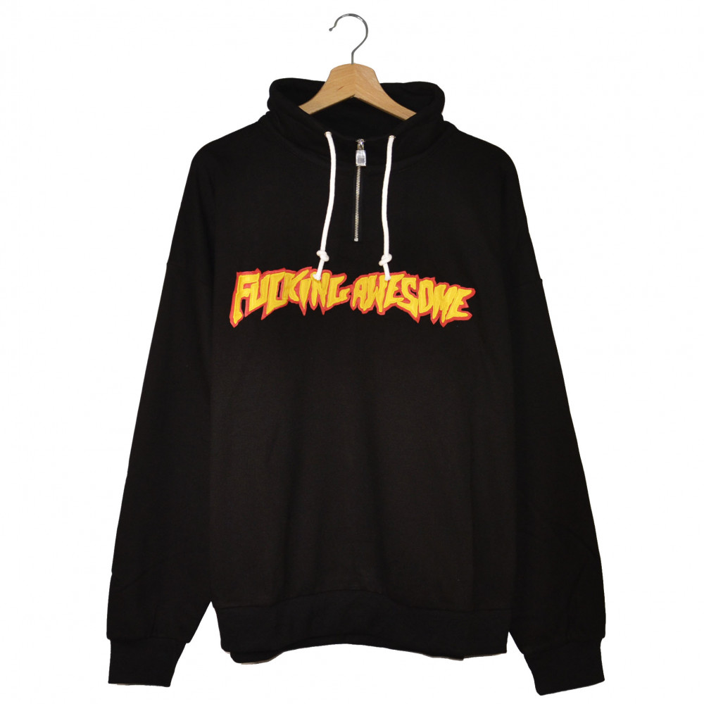Fucking Awesome Rocky 1/4 Zip Sweatshirt (Black)