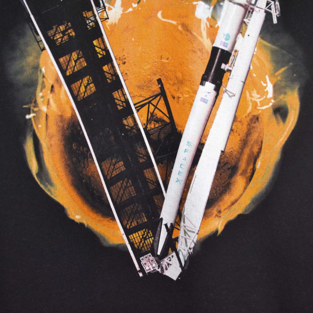 Flace Vlone Musk SpaceX Staple Oversized Crewneck (Black/Orange)