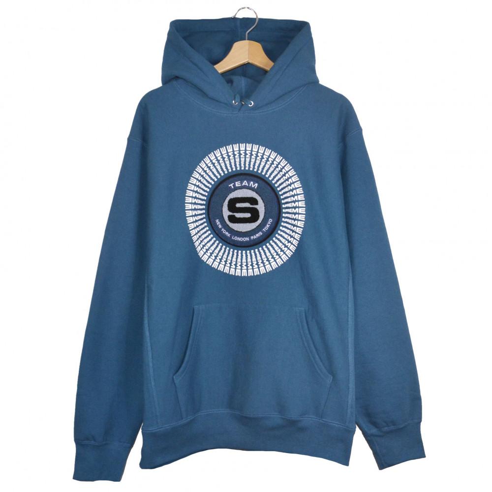 Supreme Applique Hooded Sweatshirt (Marine Blue)