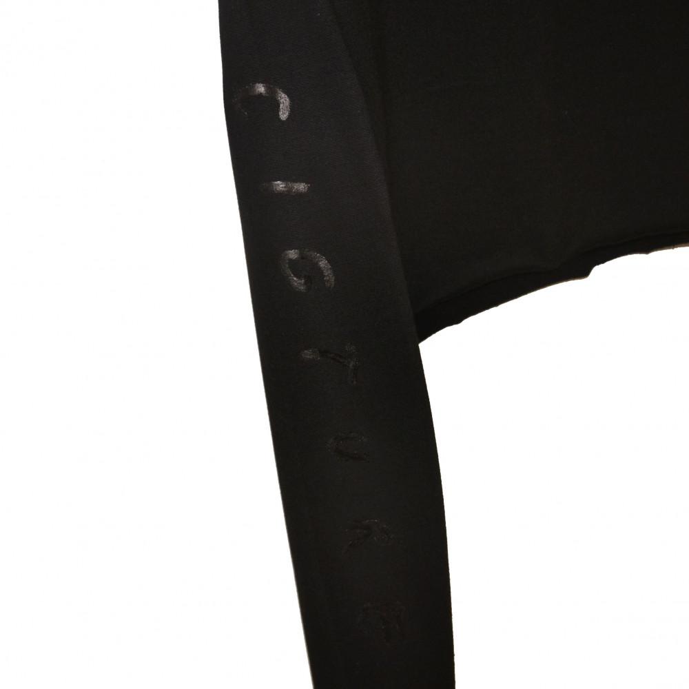 Cigture Femme Cropped Crewneck (Black)