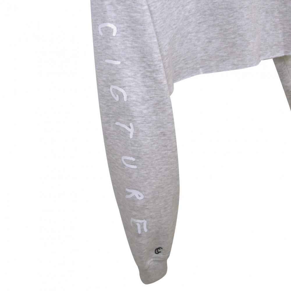 Cigture Femme Cropped Crewneck (Grey)