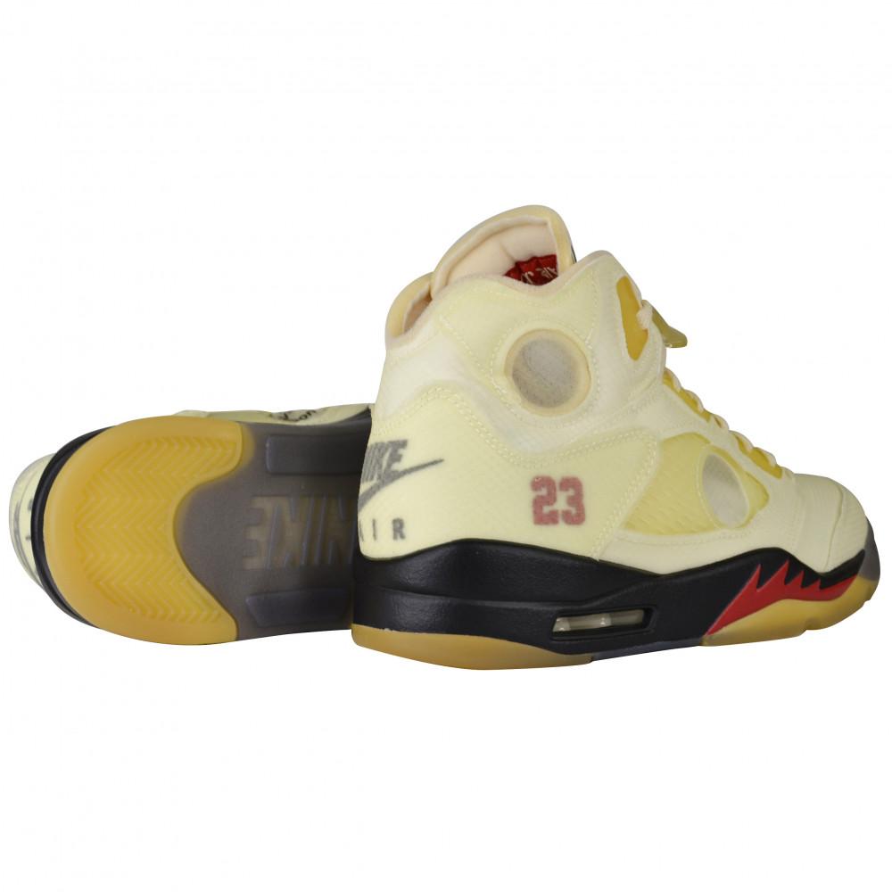 Off-White x Nike Air Jordan 5 (Sail)