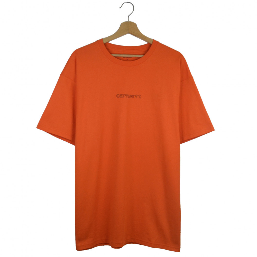 Carhartt WIP Team Script Tee (Orange)