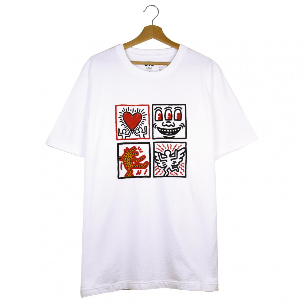 Keith Haring x Uniqlo Love, Smile, Dance, Fly Tee (White)