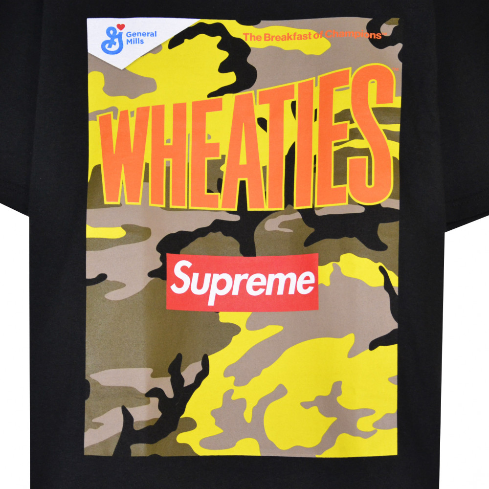 Supreme x Wheaties Box Logo Tee (Black)