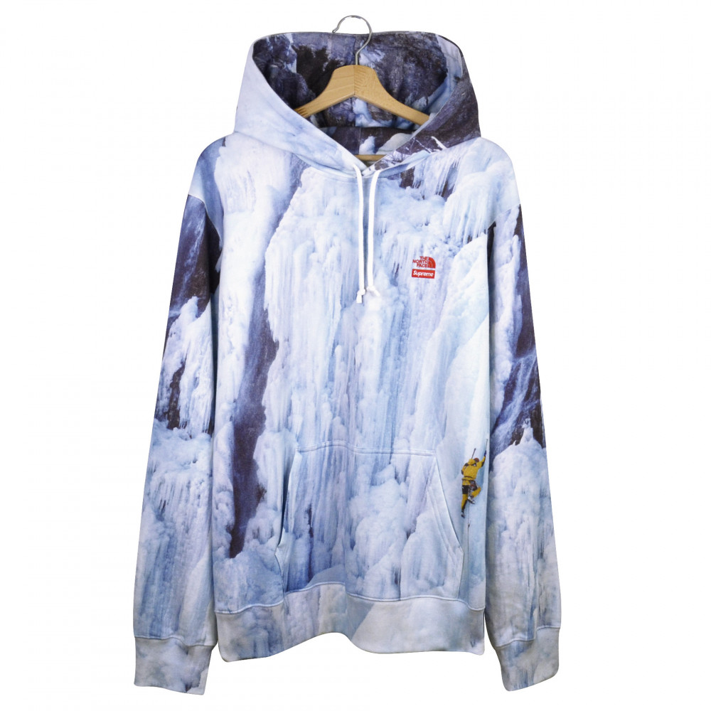 Supreme x The North Face Ice Climb Hoodie (Blue)