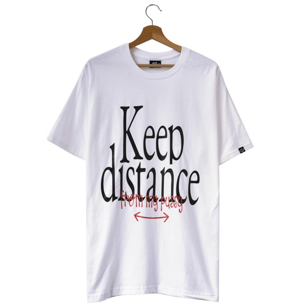 EATPUSSY Keep Distance Tee (White)