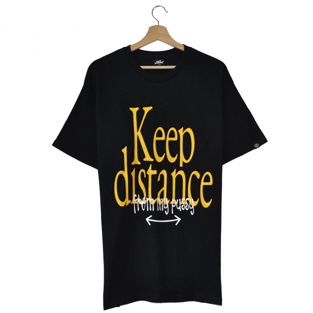 EATPUSSY Keep Distance Tee (Black)