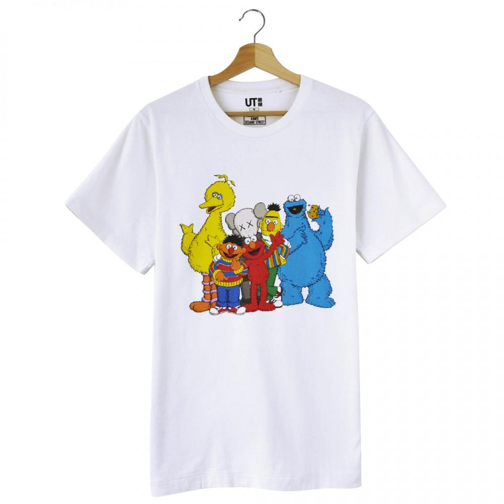 KAWS x Uniqlo x Sesame Street Tee (White)