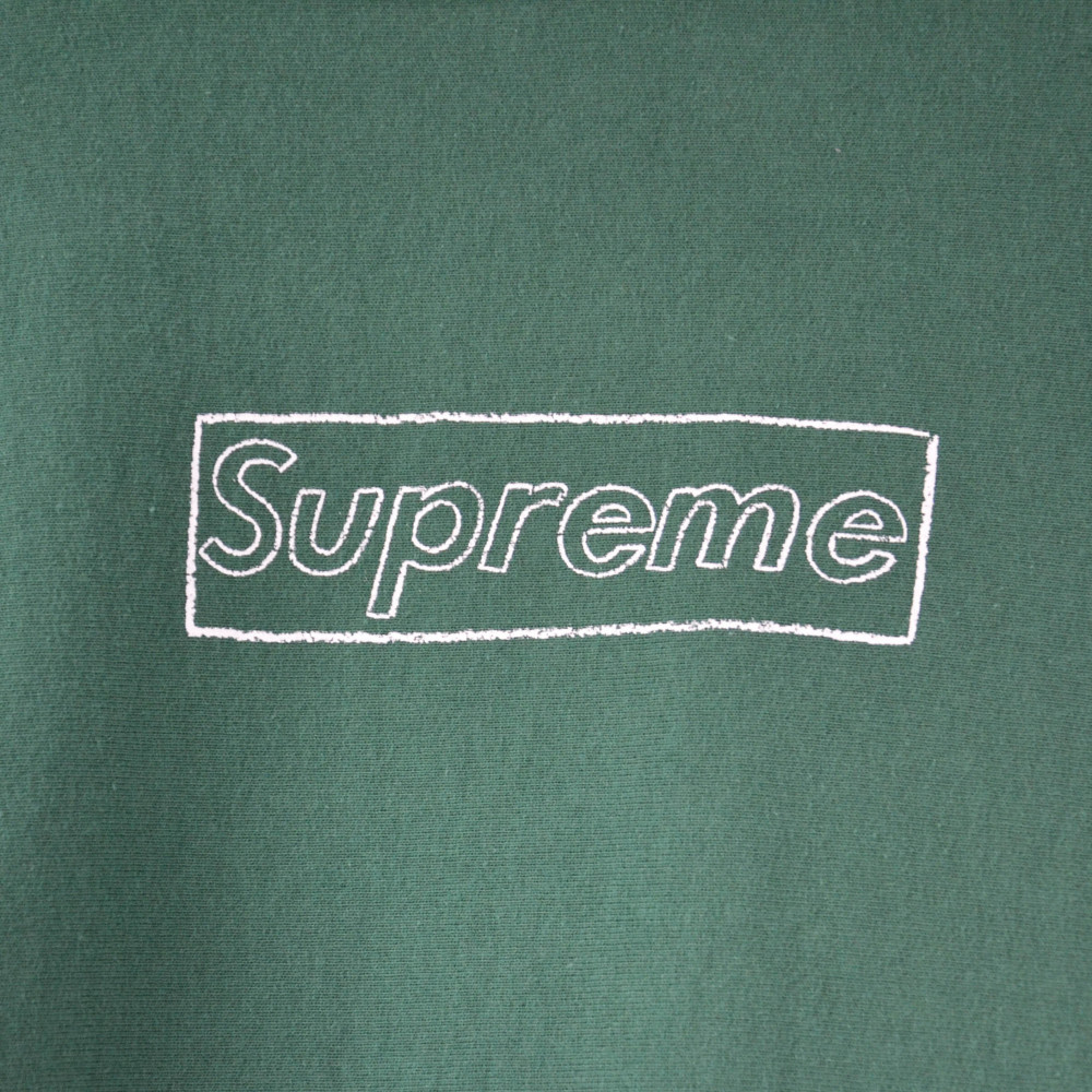 Supreme x KAWS Chalk Box Logo Hoodie (Green)
